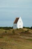 Den Tilsandede Kirke Sand-begravd kyrka, Skagen, Jutland, Denma Royaltyfri Foto