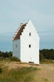 Den Tilsandede Kirke Sand-begravd kyrka, Skagen, Jutland, Denma Arkivfoto