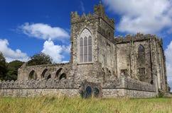 Den Tintern abbotskloster var en Cistercian abbotskloster som lokaliserades på krokhalvön, ståndsmässiga Wexford, Irland Royaltyfri Foto