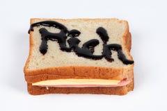 Den tjänade som rikedomsmörgåsen Är du klar att äta? Arkivbilder