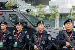 Den tjänstgörande polisen Arkivfoto