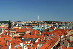 den tjeckiska Europa panorama- prague republiken visar Arkivfoton