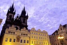 den tjeckiska gammala prague republiken square townen Arkivbild