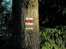 den tjeckiska republiken undertecknar turism Arkivfoton