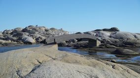 Den Tjome naturen parkerar på sydkusten av Norge stock video