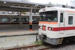 Den Tobu Nikko linjen tar folk från den Asakusa stationen Arkivbild