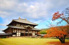 Den Todaiji templet i Nara Japan Arkivfoto