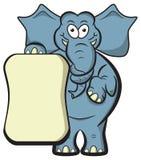 Den tomma elefantillustrationen affischerar. Arkivbild