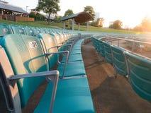 den tomma legiaen nya poland rows platsstadionen warsaw Arkivbilder
