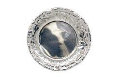 Den tomma muffin isolerade bästa sikt på vit bakgrund Royaltyfria Bilder