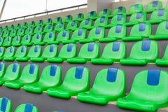 Den tomma platsen av fotbollsarena Royaltyfri Fotografi