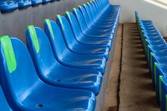 Den tomma platsen av fotbollsarena Arkivfoton