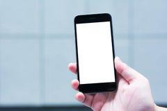 Den tomma skärmen av den smarta telefonen Arkivfoto