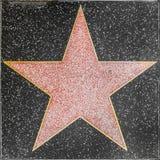 Den tomma stjärnan på Hollywood går av berömmelse royaltyfri bild