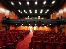Den tomma teaterkorridoren - ljusa ljus arkivfoton