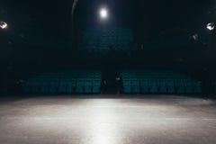 Den tomma teatern arrangerar Arkivfoton