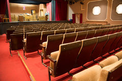 Den tomma theatren med arrangerar Arkivbilder