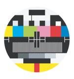Den tomma TV:N signalerar Arkivfoton