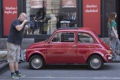 Den Topolino Fiat 500 bilen Fotografering för Bildbyråer