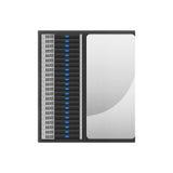 Den toppna datoren är nätverksserveren för lagringsdata och snabb proce Royaltyfri Fotografi