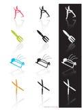 den trädgårds- symbolen tools vektorn Fotografering för Bildbyråer