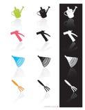 den trädgårds- symbolen tools vektorn Arkivfoton