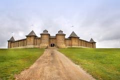 Den träscythian fästningen i Kudikina Gora, familjnöjesfältet, Lipetsk region, Ryssland Royaltyfria Foton