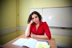 den tröttade deltagarelärare var Arkivbilder