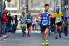 Den traditionella årliga maraton i Florence Är inklusive i maraton för överkant tjugo Arkivbilder