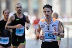 Den traditionella årliga maraton i Florence Är inklusive i maraton för överkant tjugo Arkivbild