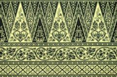 Batiksarongen mönstrar bakgrund Arkivfoton