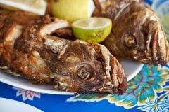 Den traditionella fisken stekte i kanariefågelöarna royaltyfri bild