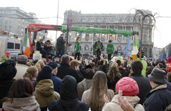 Sanktt Patricks dag i Bucharest 11 Royaltyfri Fotografi