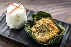 Den traditionella kambodjanska en khmerfisken ryktar amok Arkivbild