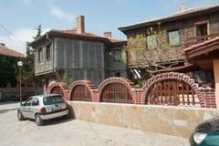 Den traditionella kust- arkitekturen i Bulgarien Fotografering för Bildbyråer