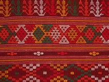 Den traditionella torkduken kallade ulosbatak Arkivfoto