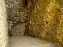 Den trappaCetatea neamtuluien vaggar fortfästningen moldova Royaltyfri Foto