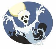 Den trasiga spöken svävar från kyrkogård Arkivbilder