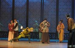 Den tredje handlingen för japansk kuriositet- för arméDa Zuo'sen av dansdrama-Shawanhändelser av forntiden Arkivbilder