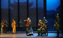 Den tredje handlingen för japansk kuriositet- för arméDa Zuo'sen av dansdrama-Shawanhändelser av forntiden Arkivfoton