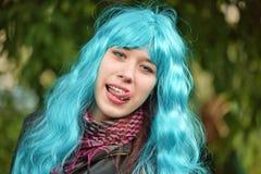 Den trendiga flickan Royaltyfria Bilder