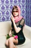 Den trendiga flickan Royaltyfri Fotografi