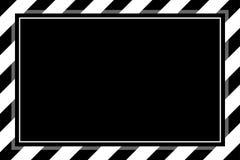 Den trendiga svartvita bandrammallen f?r bakgrundskopieringsutrymme, banerram gjorde randig markisen, bandram royaltyfri illustrationer
