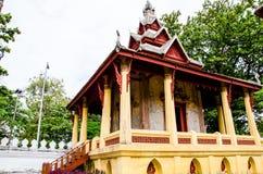 Den Tripitaka korridorSaket templet är en forntida buddistisk tempel i Vientiane Royaltyfri Fotografi