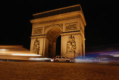 Den triumf- bågen i Paris Arkivfoto