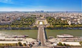 Den Trocadero slotten och floden Seine, Paris Royaltyfri Foto