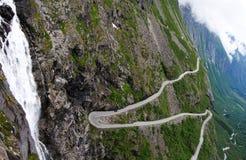 Den Trollstigen vägen i Norge Fotografering för Bildbyråer