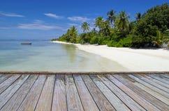 Den tropiska lagun Royaltyfria Bilder