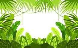 Den tropiska skogen inramar barn Det kan vara nödvändigt för kapacitet av designarbete illustration stock illustrationer