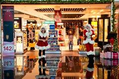 Den tullfria julen shoppar Arkivbild